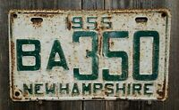 """1955 NEW HAMPSHIRE """"BELKNAP COUNTY""""  LICENSE PLATE  (UNRESTORED CONDITION)"""