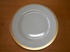 "Ransgil Fine China MINTON Set of 3 Dinner Plates 10 5/8"" Gold encrusted rim A"