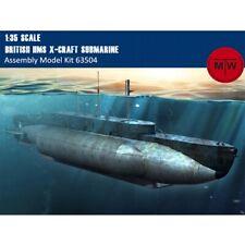 Merit 63504 1/35 Scale British HMS X-Craft Submarine Plastic Assembly Model Kits