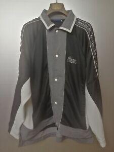 Asics | felpa con bande logo Tg. L | vintage suit sweatshirt track top jacket
