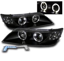 BLACK HOUSING PROJECTOR HALO HEAD LIGHTS W/BLUE LED DRL SET FOR 1996-2002 BMW Z3