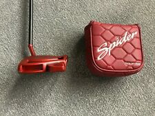 """LH Taylormade Spider Tour Red 34"""" Putter With Headcover"""