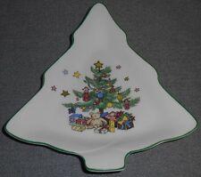 Nikko HAPPY HOLIDAYS PATTERN Christmas Tree CANDY/NUT DISH