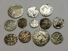 Great rare silver hammered lot XII-XVII century medieval crusader coins