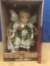 "Rare Vtg Grandeur Noel 16"" Porcelain Christmas Angel Collectors Addition w/ Box"