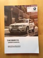 New BMW Owner's Manual X3 28i 35i 2013-17