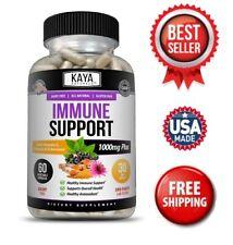 Immune System Booster, Elderberry, Zinc, Probiotics, Echinacea, Garlic, Turmeric