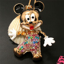New Multicolor Crystal 3D Mouse Animal Pendant China Necklace