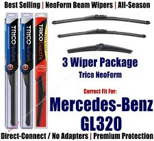 3pk Wipers Front & Rear NeoForm 2007-2009 Mercedes-Benz GL320 - 162813/2113/12J