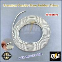 Fender Flare Rubber Trims Seals Flares Fenders white 10M Meters Wheel Arch w tap