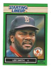 1989 Kenner Starting Lineup Lee Smith Card - Boston Red Sox  NM Condition