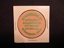 Strasburg, Ohio Wooden Nickel token - Strasburg 77 Antiques Wooden Coin - Church