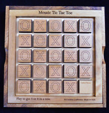 Mosaic Tic Tac Toe – get 3 or 4 in a row.  Come with base, cover & internal grid
