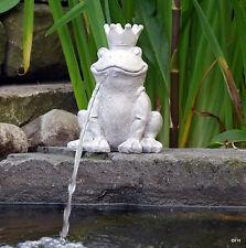 Gartenfigur Wasserspeier Wasserspiel Froschkönig Gartendekoration Teichdeko