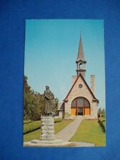 HISTORIC EVANGELINE MEMORIAL CHURCH & STATUE GRAND PRE CANADA POSTCARD