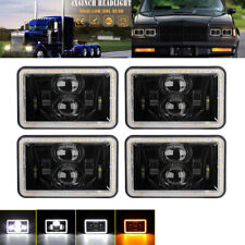 "4x6"" LED Headlights Hi/Lo Sealed Beam Headlamps Bulb For Chevrolet Camaro 4PCS"