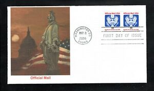 2006 Sc #O160 39¢ Great Seal Official Mail Coil Pair Fleetwood FDC
