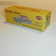 Dinky Toys 176 Austin A105 Saloon with Red stripe or roof empty Repro box
