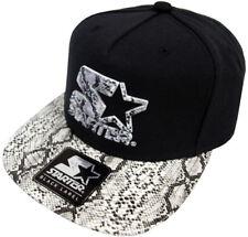 Starter Logo Snapback Cap Black White Crocodile Skin Kappe Basecap Herren Men