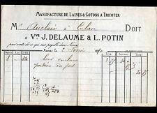 """NEVERS (58) USINE de LAINE & COTONS à tricoter """"J. DELAUME & L. POTIN"""" en 1880"""