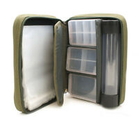 Tackle wallet with hooks pouches, float tube, 3 tackle boxes, NEW