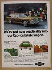1974 Chevrolet Caprice Estate Station Wagon car photo vintage print Ad