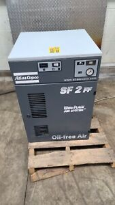 Atlas Copco SF2 FF oil-free scroll compressor 142 PSI 7CFM 3 HP