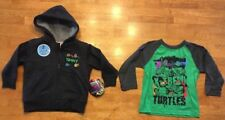 NWT Teenage Mutant Ninja Turtle Boy's Hooded Sweatshirt & Shirt - Size: 2T