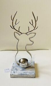 2 x YANKEE CANDLE NORDIC STAG TEA-LIGHT HOLDER BNWT ALPINE COLLECTION BEAUTIFUL