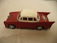 "Vintage Fossil Tin lithography toy car red 6 1/2"" long"