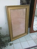 Antique Vintage Very Large Hefty Old Gilt Wood Frame