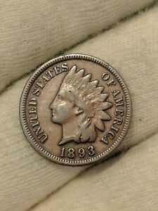 USA indian head cent 1893