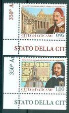 2017 Vatican City Sc# 1642-3, Pope Alexander VII and Francesco Borromini