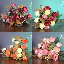 Artifical Flower Silk Rose Wedding Home Decor Bouquet 2 Bouquets 42 Head