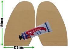 Ribbed Stick on Soles & Glue Mens Non Slip High Grip Sand DIY Shoe Soles Repair
