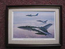 John Young Aircraft print 'Tornado F3's of No 29 Squadron/ Russian Bear - FRAMED