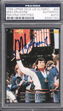 MIKE ERUZIONE HAND SIGNED CARD PSA DNA AUTO 1996 UPPER DECK US OLYMPICS #69