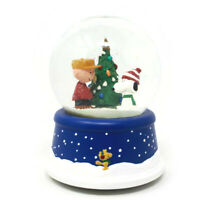 🔴 Peanuts Christmas 50th Anniversary Musical Snow Globe Charlie Brown & Snoopy