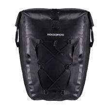 RockBros Waterproof Pannier Bag Cycling Bike Travel Rear Seat Carrier 27 L Black