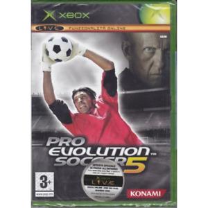 PRO EVOLUTION SOCCER 5 2005 XBOX OLD GIOCO NUOVO SIGILLATO ITALIANO CALCIO CD