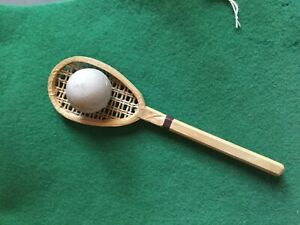 Antique Tennis Candy Container Germany Tennis Racket & Ball Scarce