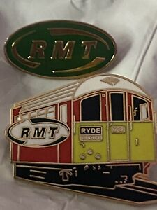 RMT UNION, RYDE ISLE OF WIGHT BADGE AND RMT STANDARD GREEN BADGE