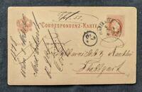 1880 Mariahilf Vienna Austria Stationary Postcard Cover to Stuttgart Austria