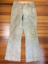 Vintage Ibex Of England Suede Leather Pants Size 29 Inch Waist