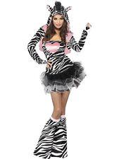 Fever Zebra tutu dress/jacket hood XS (size 2-4) Adult Costume Hallowee