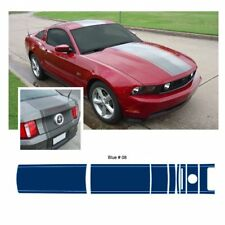Ford Mustang 2010-2012 w/ Lip Spoiler Center Stripe Graphic Kit - Blue