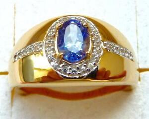 Harry Ivens IV Ring Silber 925 vergoldet Tansanit AAA+ und Zirkone