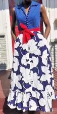 Rockabilly Funky Cotton Mod Boho Prairie Gown Hippie Maxi Sweep Dress Deco L Xl