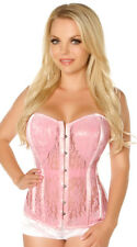 Daisy Corsets TOP DRAWER PINK LACE Steel Boned Molded Cup Bustier Lingerie 6X