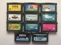 Lot of 11 Nintendo Gameboy Advance Games / Pacman, Madden, Shrek, Spongebob,...
